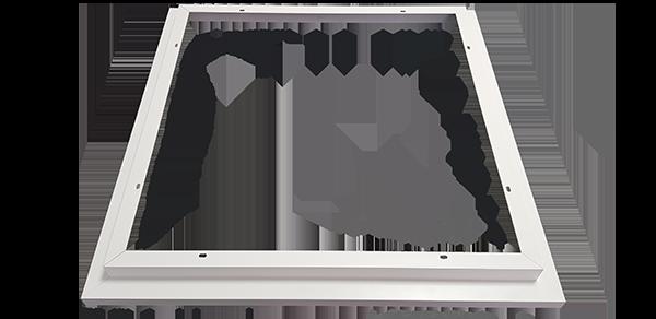 Shadow Aufbaurahmen für die WEGA-Panels zur direkten Anbaumontage unter Decken