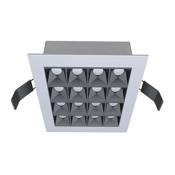 Downlight SECRET ED mit Rahmen mit einem hervorragendem Entblendungswert und einer innovativen Lichtoptik